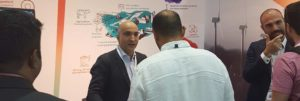 Ahmed Bouna, MENA sales lead on the Actility booth at IoTX Dubai.