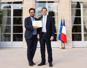 Remise du Pass French Tech à l'élysée par Mounir Mahjoubi