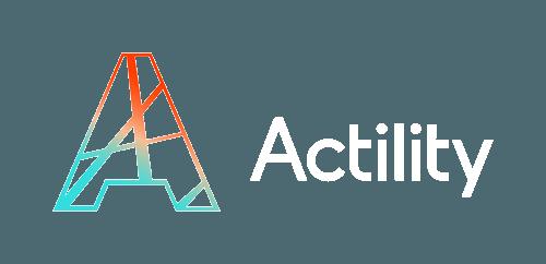 Actility logo white text