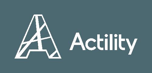 Actility logo white no tagline
