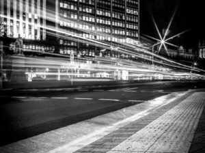 Black and white light city picture