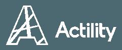 White Actility logo no tagline