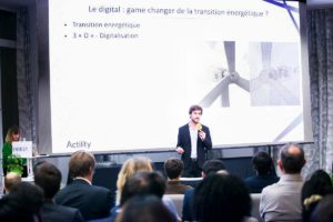 Actility Energy speech with Adrien Doré speaker