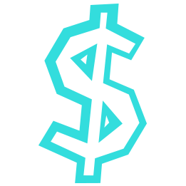 Blue dollar sign icon