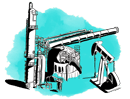 Green oil & gas illustration small