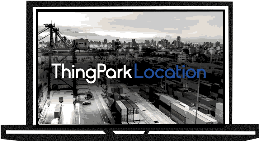 Screen with ThingPark Location