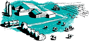 Green illustration of agriculture use cases in IoT