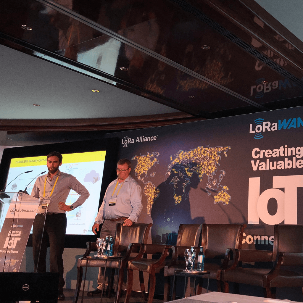 Raphael Apfeldorfer talks about Actility-Idemia partnership for large scale device activation at the LoRa Alliance AMM 2019