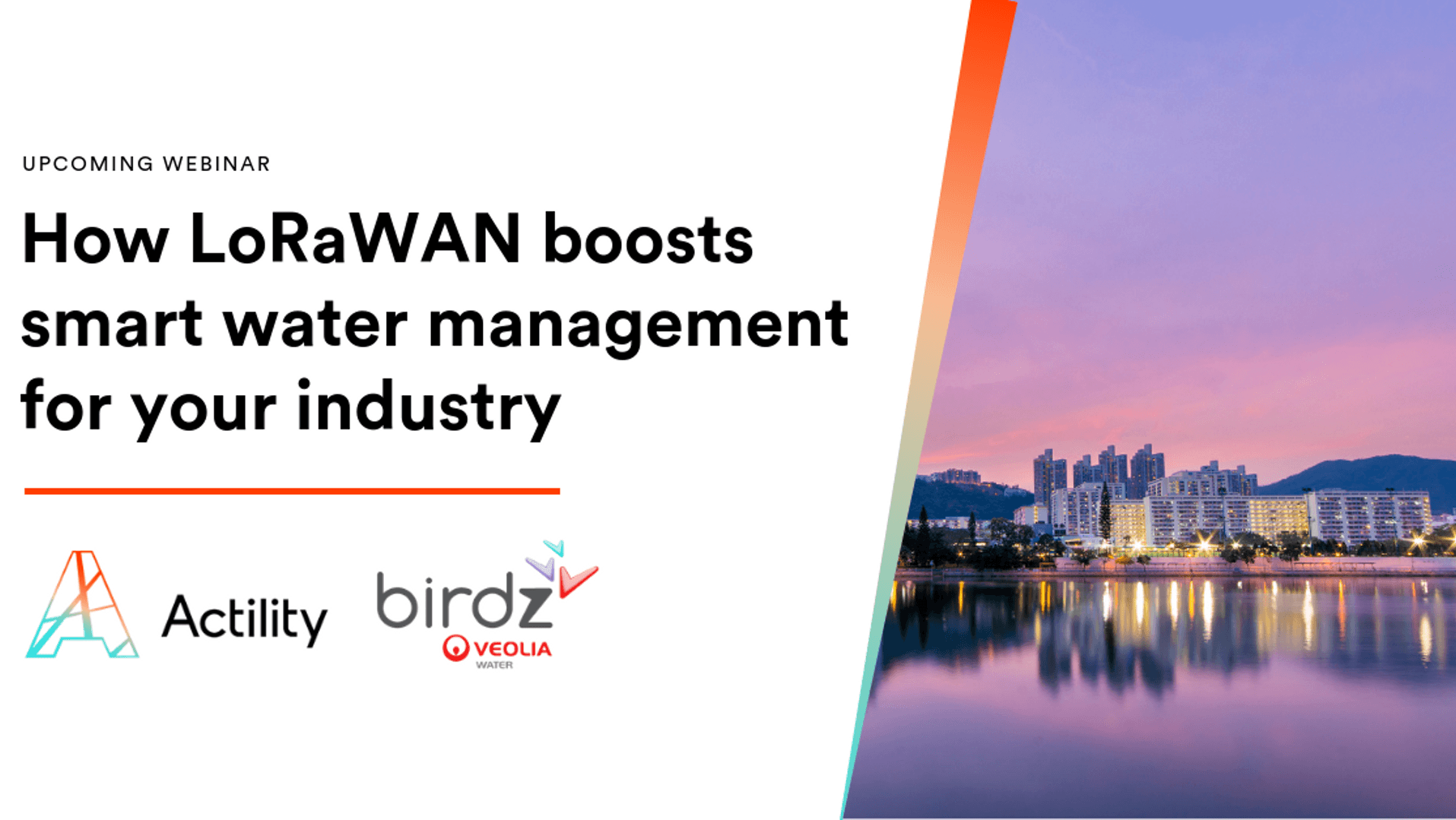 Webinar: How LoRaWAN boosts smart water management for your industry