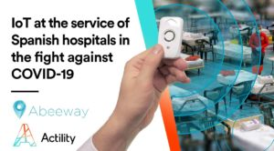 "Image banner saying ""IoT at the service of Spanish hospital in the fight against covid-19"""