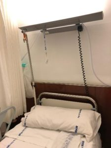 Picture of a hospital room equipped with a micro tracker