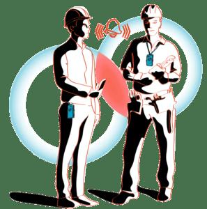 workers social distancing alert
