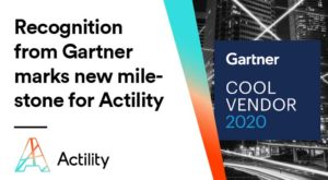 "Gartner cool vendor 2020 image with copy ""Recognition from Gartner marks new milestone for Actility"""