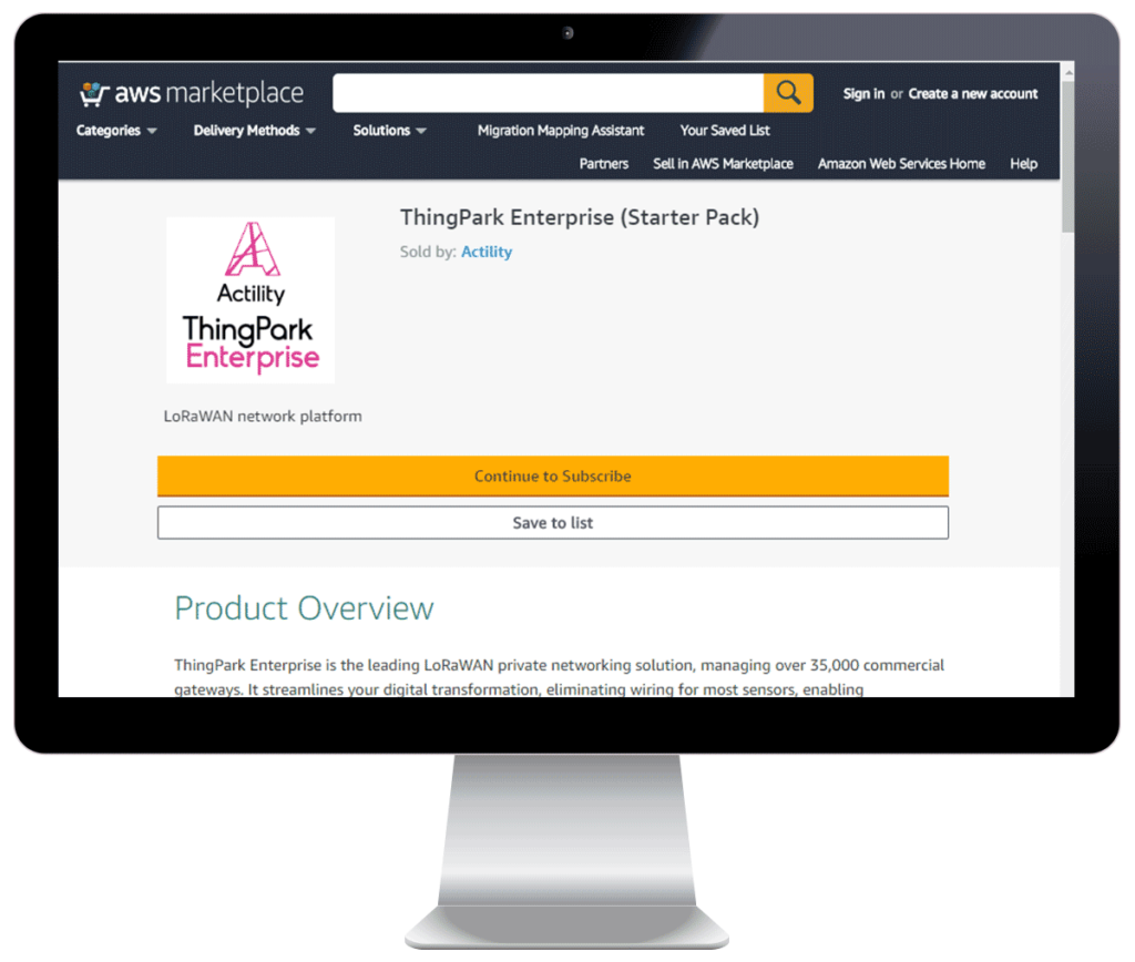 ThingPark Enterpise on AWS Marketplace