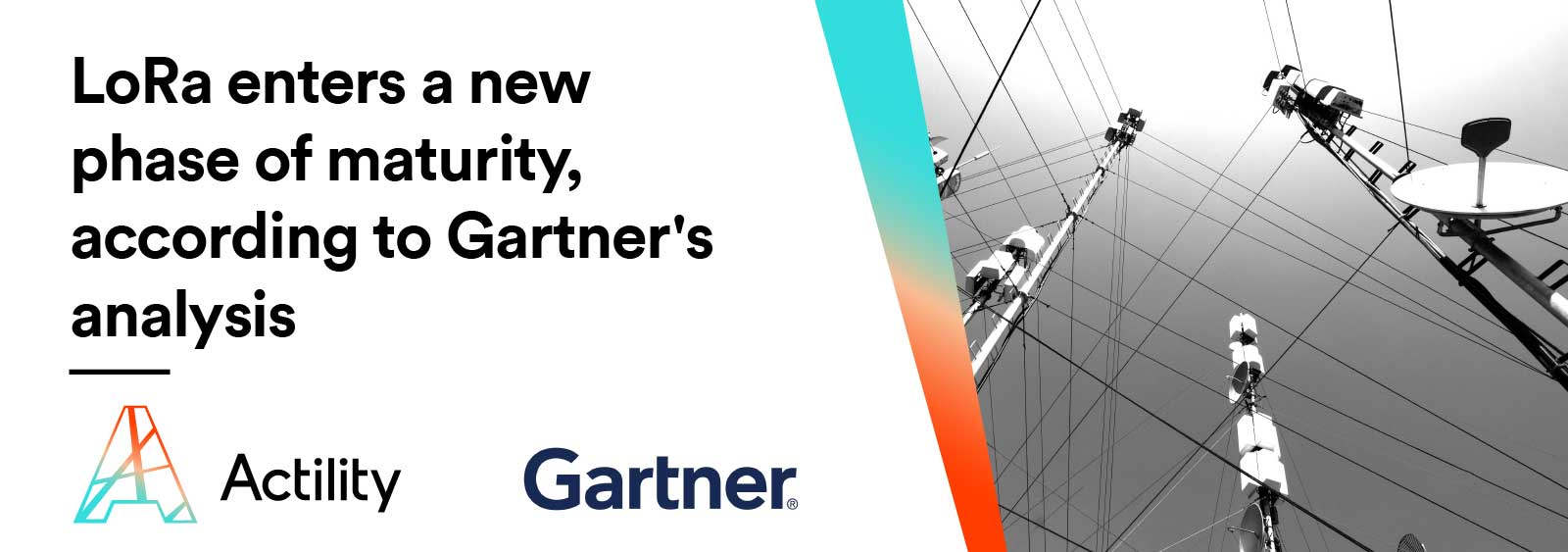 Image including text: LoRa enters a new phase of maturity, according to Gartner's analysis