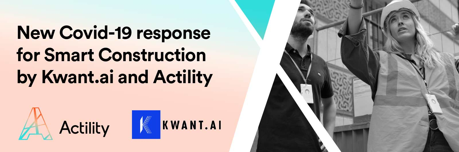 Kwant.ai press release image with workers wearing Abeeway smart badges