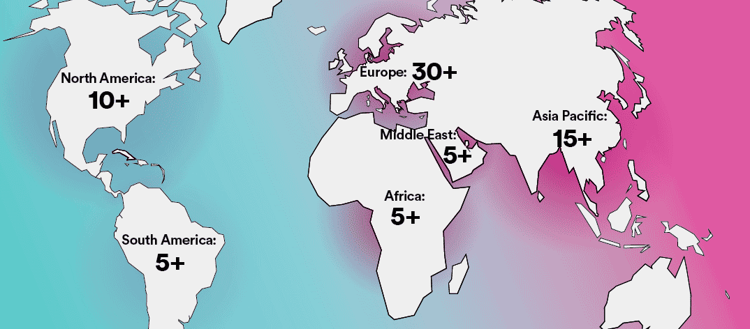 Channel partner world map