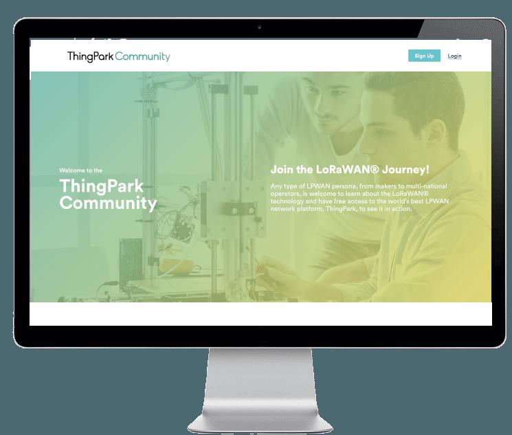 ThingPark Community main page