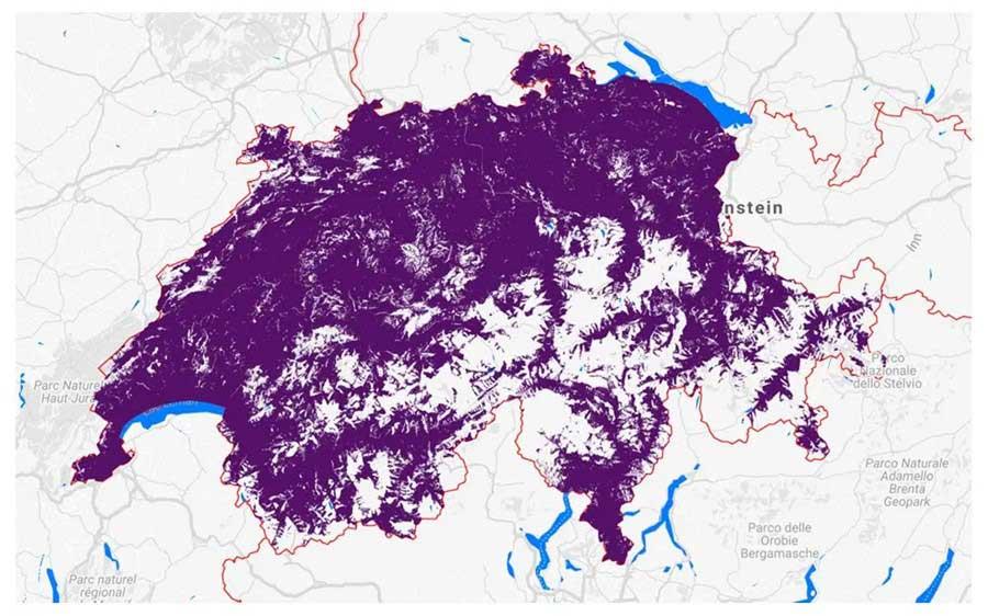 Swiss post map