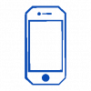 Blue smartphone icon