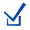 Bleu tick box icon